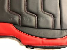 2015-2018 Ford F-150 XL XLT SuperCrew ALEA Black Red Leather Seat Covers Custom