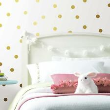 90 New GOLD CONFETTI DOTS WALL DECALS Peel and Stick Stickers Polka Dots Decor