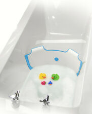 ** NEW ** BabyDam Bathwater Barrier | Baby Bath Tub | White/Blue