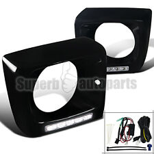 2002-2014 Benz W463 G-Class Glossy Black 5-SMD LED DRL Head Light Cover Frames