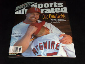 1998 Sports Illustrated Magazine Mark McGwire One Cool Dad, Batboy Son Cover