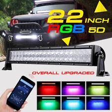 "22Inch 280W CREE RGB LED Light Bar Wireless Glow Strobe Flash Multi Color 20/24"""