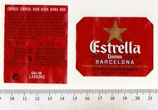 Spanish Beer Label - Damm Brewery - Spain - Estrella Damm