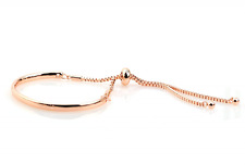 Rose gold plated Fiji friendship bracelet with Swarovski crystal box chain UK