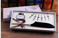 Quill Pen Feather Antique Luxury Quill Pen And Ink Set without Ink
