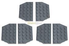 6x LEGO® 32059 4x6 Flügel-Platte schräg neu-dunkelgrau NEU dark bluish gray