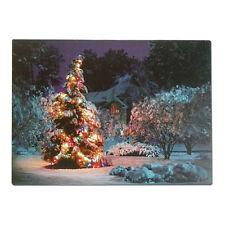 Fibra ottica LED parete Immagine albero di Natale con lo sfarfallio LUCI 40 x 30cm