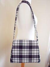 Tartan Messenger bag Black & White Cross body Bag Shoulder bag handmade