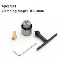 4PC Mini elettrico Trapano Mandrino Jto Taper Con collegamento albero 0.3-4mm IT