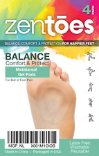 ZenToes 4 Pack Metatarsal Pads Ball of Foot Cushions Neuroma Pad Shoe Inserts
