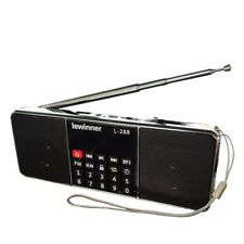 Portable FM Radio Speaker Music Player With TF Card USB Disk Input LCD Screen