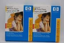 """2 Pack HP Advanced Photo Paper (2) 60 Sheets -Glossy 5"""" x 7"""" For Inkjet Q8690A"""