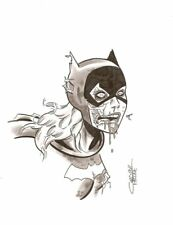 Zombie Batgirl Barbara Gordon original art pinups by Chris Faccone