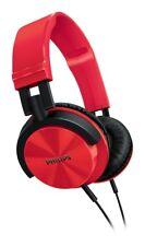 Philips SHL3000 - Auriculares de diadema cerrados, color rojo