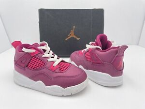 Nike Air Jordan 4 Retro Love of the Game Berry Pink BQ7672-661 Toddler Siz 8C B1
