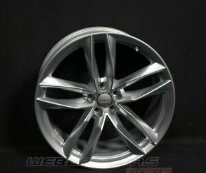 4G0601025CE Silver Org Audi RS6 4G 21 Inch Aluminium Rim Wheel 9.5J X 21 ET25