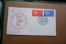 FDC France 1961 Europa CEPT enveloppe