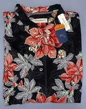 NWT $148 Tommy Bahama Short Sleeve Black Shirt Mens Size Button Down