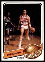 1979-80 TOPPS BASKETBALL SET BREAK PHIL CHENIER WASHINGTON BULLETS #103