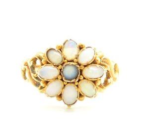 Splendid Victorian 15ct Gold Opal Ring