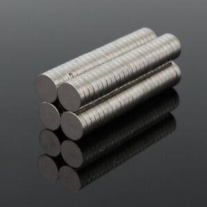 100Pcs 8x2mm N50 Super Strong Round Disc Blocks Rare Earth Neodymium DIY Magnets