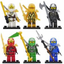 6 Sets MiniFigures Phantom Ninjago Golden Ninja Lloyd Skylor Zane Blocks Toys