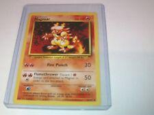 Pokemon Magmar Base Card original 36/102 - Toploader protected