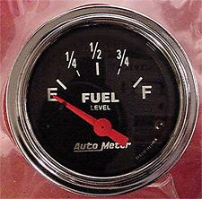 "Auto Meter Black Face Car Truck Boat 2"" Fuel Level Gauge 2516"