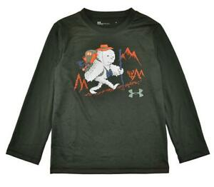 Under Armour Boys L/S Artillery Green Yeti Dry Fit Top Size 5