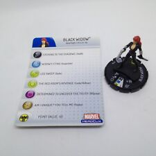 Heroclix Captain America set Black Widow #206 Gravity Feed figure w/card!