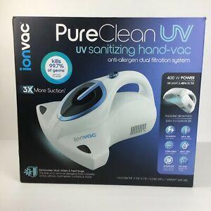 Ionvac Pure Clean Uv Sanitizing Handheld Vaccum NEW FREE SHIPPING!