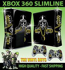 XBOX 360 SLIM DARK SIDE DARTH VADER STAR WARS BLING STICKER SKIN & 2 X PAD SKINS