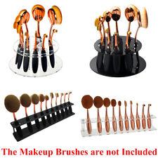 10pcs Toothbrush Oval Make up Brushes Set Dryer Organizer Holder Stand Shelf