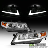 2004-2008 Acura TSX CL9 LED Light Tube Projector Headlights Headlamps Left+Right