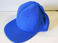NOS Vtg '70's DeLong Baseball Cap Large Adj. Snap-back USA Royal Blue