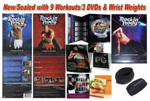 Beachbody Shaun T's ROCKIN' BODY 3 DVD SET~ 9 Workouts w/ Wrist Weights & Guides