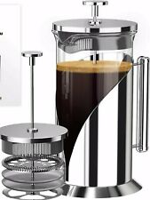 Cafe Du Chateau 34 Ounce French Press Coffee Maker 4 Level Filtration System New