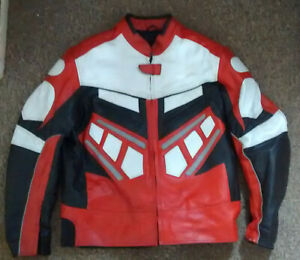 REAL LEATHERS   Leather Motorcycle Jacket    size XXL