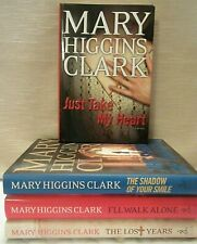 Lot 4 Mary Higgins Clark Hardcover Books: Just Take, Shadow, I'll Walk, Lost Yrs
