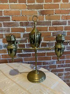 Antique Signed Miller Double Student Lamp No.3 size Student Oil Lamp Burner Part