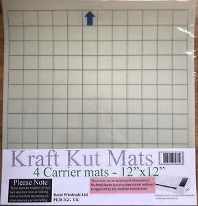 """4 pack 12""""x12"""" Grid Mat Silhouette Cameo 3 cutting plotter Carrier Mat Sheet"""