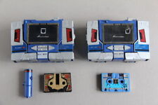 TAKARA '74 '83 SOUNDWAVE DECEPTICON G1 and BUZZSAW CASSETTE TRANSFORMERS ( X 2 )