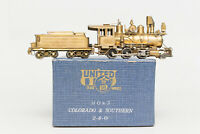 NEVER PAINTED Hon3 BRASS UNITED PFM C&S 2-6-0 BEAR TRAP SPARK ARRESTOR AIR TANK