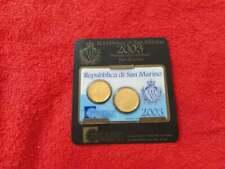 San Marino 20 cent & 50 cent 2003 card folder    #1