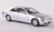 Spark Mercedes 2000 S Class (W220) Silver Euro Dealer 1:43 Rare Jem! Very Nice!