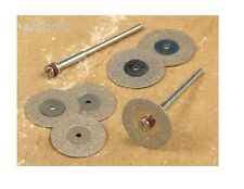 TZ 6PC MINI Diamond Cutting Cut Off Discs Fit Most Rotary Tool & Mini Drills