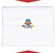 24 Pocoyo Party Favor Birthday Personalized Envelope Stickers Seals