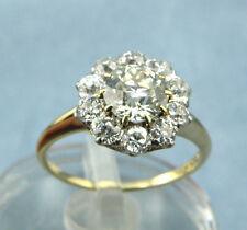 2.50ct European Cut Natural Diamond Engagement/Cocktail Ring 14K MultiTone Gold