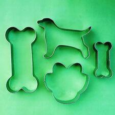 Dog Theme Cookie Cutter Dog Bone Paw Biscuit Fondant Baking Metal Mold Set