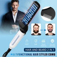 Quick Beard Straightener Hair Styler Multifunctional Comb Curler Show Cap Q